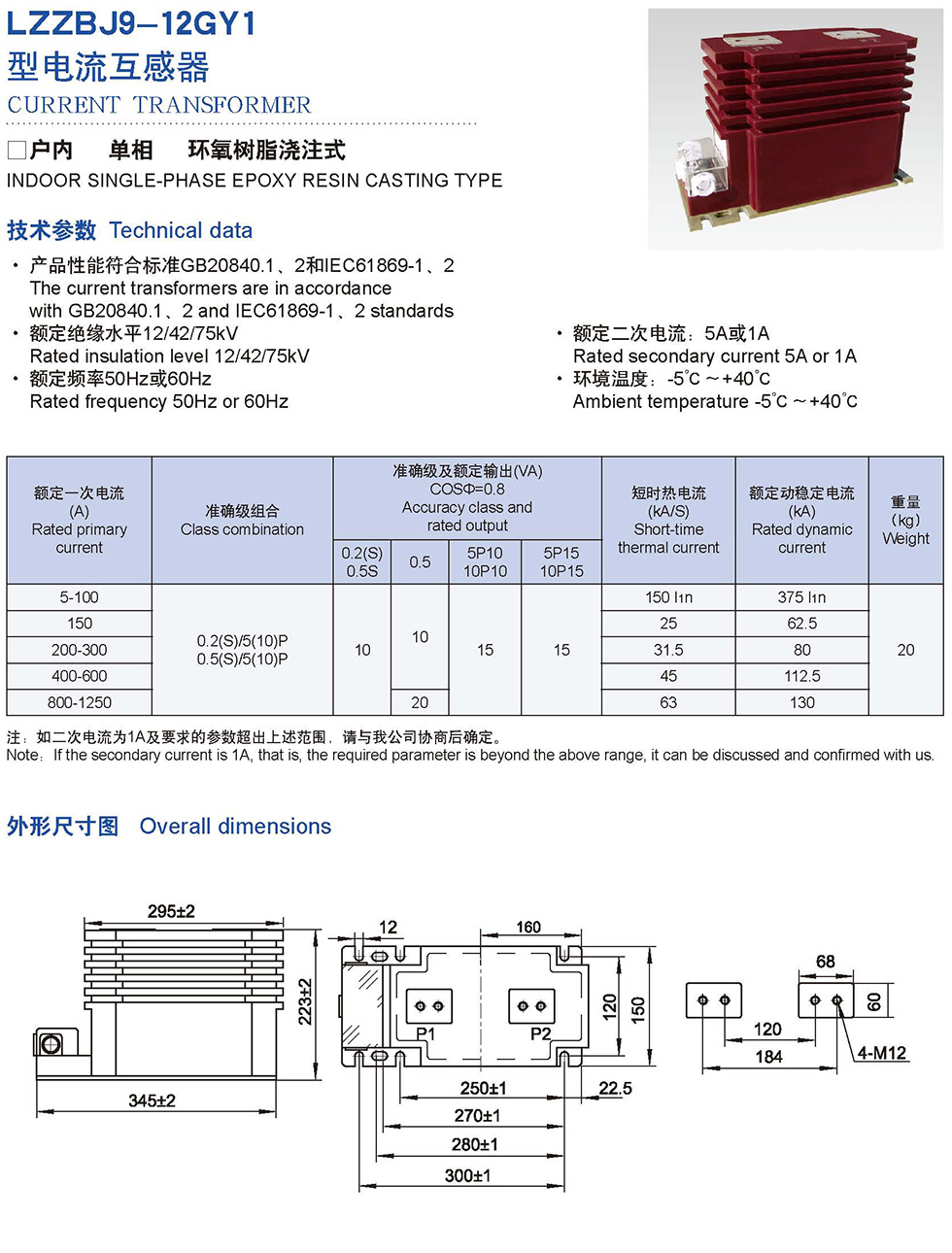 LZZBJ9-12GY1 Transformer Products